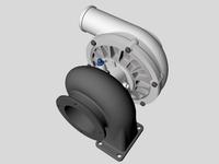 Turbocharger Unit 3D Model