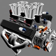 Chevy Hilborn Small Block V8 3D Model