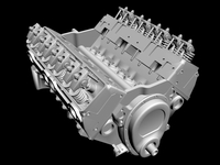 Detailed V8 Engine 3D Model