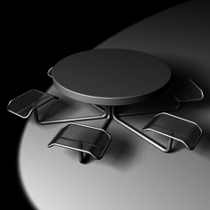 All Weather Table 3D Model
