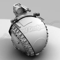 "MASU-47 ""Twinkle Toes"" Tank Ball 3D Model"