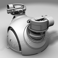 "M-24 Theater Automated Turret - ""Snake Eyes"" 3D Model"