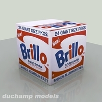 Free Brillo Box 3D Model