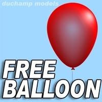 Free Free Balloon 3D Model