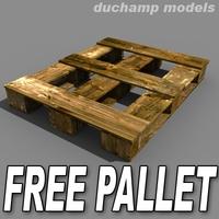 Free FREE Wood pallet 3D Model