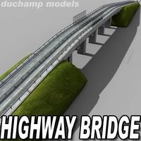 Highway bridge 3D Model