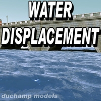 Water animated displacement map 3D Model