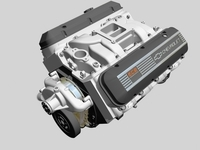 Chevrolet Big Block V8 Engine 3D Model