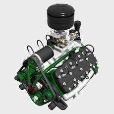 Early Flathead V8 Engine 3D Model