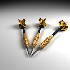 Throwing darts 3D Model