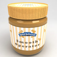 Peanut butter Jar 3D Model