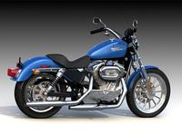 2010 Harley Davidson 883 3D Model