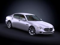 2008 Maserati Quattroporte 3D Model