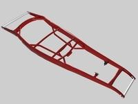 3 Street Rod Frames 3D Model