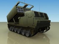 .M279_MLRS_Artillery 3D Model