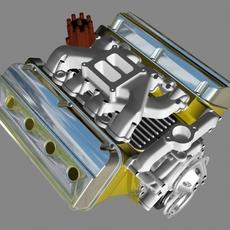 Early Hemi V8 Engine 3D Model