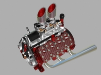 Custom Early Flathead V8 Engine 3D Model