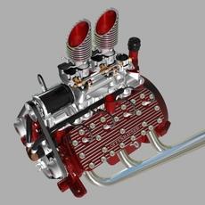 Custom Early Flathead V8 Engine 3D Model