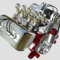 Ardun Flathead V8 Engine 3D Model
