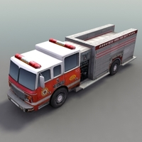 FireTruck_Rescue 3D Model
