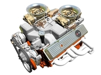 Cross-Ram Chevrolet Engine 3D Model