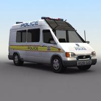 Police-Carrier_Van 3D Model