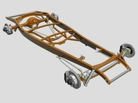 Street Rod Frame & Suspension 3D Model