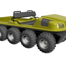 8X8 Amphibious Vehicle 3D Model