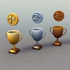 Trophiesx3_3dModels 3D Model