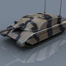 Challenger2-MBT_GameModel 3D Model