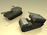 MLRS+M109_3DModel 3D Model