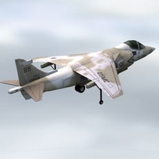 AV8B-HarrierII_USMC_GameModel 3D Model