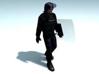 Riot_Police-Officer_3DModel 3D Model