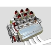 6x2 Stromberg Hemi V8 Engine 3D Model