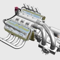 Chrysler Hemi Potvin Engine 3D Model
