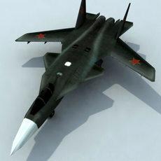 Su47_Berkut_3DGameModel 3D Model