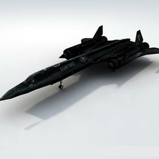 SR71-Blackbird_GameModel 3D Model