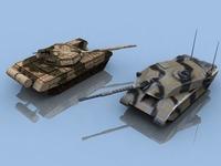 Chall2_&_T72_Models 3D Model