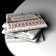 Independent Newspaper 3D Model
