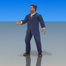 Businessman Character 3DModel 3D Model
