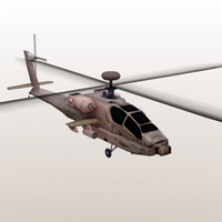 AH64D-Apache_3DGameModel 3D Model