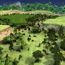 Jungle Terrain 3D Model 3D Model