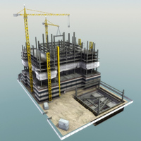 BuildingSite-01 3D Model