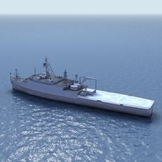 LPD-4 Amphibious Assault Ship 3D Model