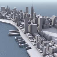 Manhattan Stylised 3D Model 3D Model