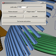 Dino Extrude Curves for Maya 1.5.0