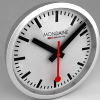 Clock - Mondaine Swiss Railway 3D Model