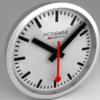 Clock - Mondaine Swiss Railway 3D Model