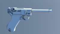 IK Rigged German Luger 3D Model