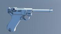 IK Rigged German Luger 3D Model